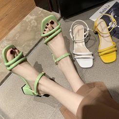 Weiya - Strappy Block Heel Sandals