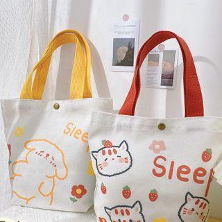 Fun House - 動物印花帆布購物袋