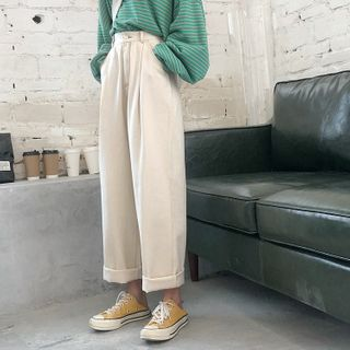 Genki Groove - Cropped Wide-Leg Pants