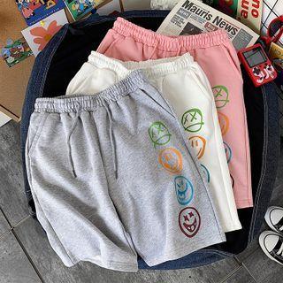 Fizze - 面部印花短裤