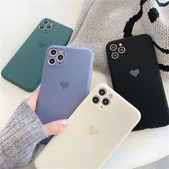 Surono - Heart Print Phone Case - iPhone 12 / iPhone 7 / 7 Plus / 8 / 8 Plus / X / XS / XS Max / XR / 11 / 11 Pro / 11 Pro Max