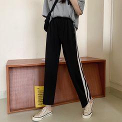 IndiGirl - 条纹运动裤