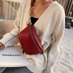 Fionne(フィオネ) - Faux Leather Belt Bag