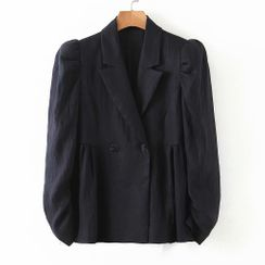 Starsavvy - 泡泡袖双排扣西装外套