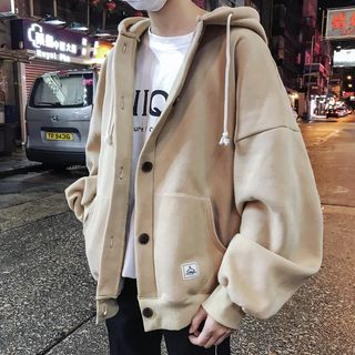 MOWAK - Hooded Buttoned Jacket