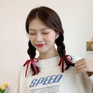 Rodiv - Velvet Bow Hair Tie