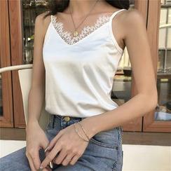 Halos - Lace Trim Camisole Top