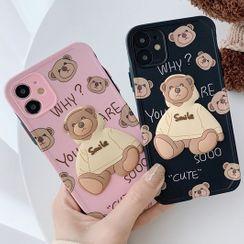 Mobby - Bear Phone Case - iPhone 12 Pro Max / 12 Pro / 12 / 12 mini / 11 Pro Max / 11 Pro / 11 / SE / XS Max / XS / XR / X / SE 2 / 8 / 8 Plus / 7 / 7 Plus