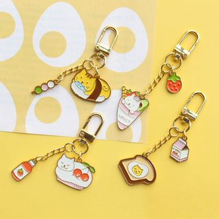 Aether - Alloy Cat / Food Keyring