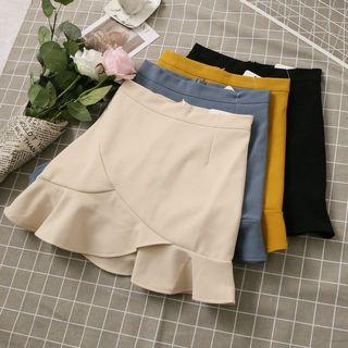 Phantasy - Ruffle Hem A-Line Skirt
