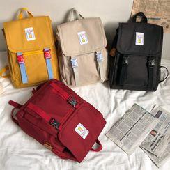 Novila - Buckled Nylon Backpack