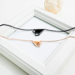 Tenri - Stainless Steel Paper Plane Pendant Necklace