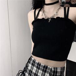LINSI - 短款吊带上衣