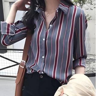 Vinales - Long-Sleeve Striped Blouse