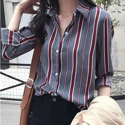 Vinales - 長袖條紋襯衫