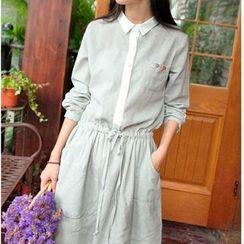 Everose - Striped Shirtdress