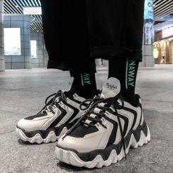 YERGO - Platform Lace Up Platform Sneakers