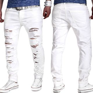 Sheck - Ripped Straight-Fit Jeans