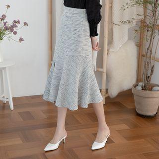 NAIN - Asymmetric Tweed Midi Mermaid Skirt