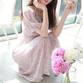 MyFiona - Half-Placket Floral Maxi Dress