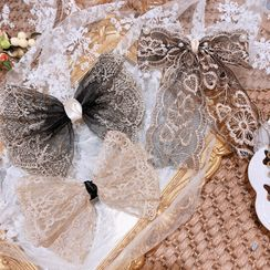 Hazy Beauty - Kids Embroidered Lace Bow Hair Clip