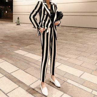 Yilda - 套裝:條紋西裝外套 + 褲