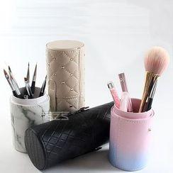 Monoe - Faux Leather Makeup Brush Case