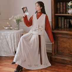 Tangier - Embroidered Traditional Chinese Costume