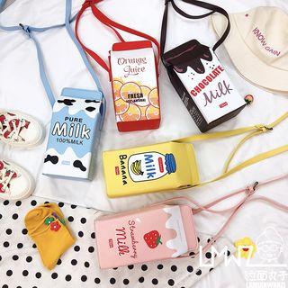 Yunikon - 印花牛奶盒单肩包