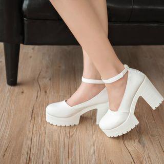 FiE FiE - 踝帶厚底粗跟鞋