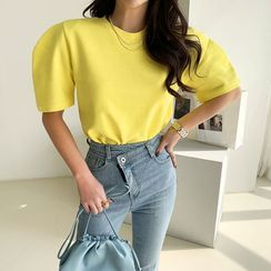 NANING9 - Puff-Sleeve Vivid Top