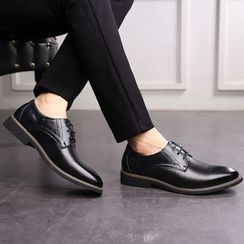 Junster  - Genuine Leather Lace-Up Brogue Shoes