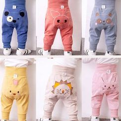 DuduBaby - Baby Cartoon Animal Embroidered Pants