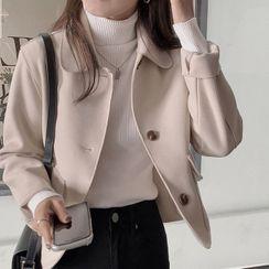 minaga - Woolen Button-Up Jacket