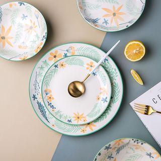 Kawa Simaya - Floral Print Ceramic Bowl / Plate