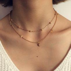 Yongge - 金属月亮贴脖项链