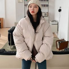 MERONGSHOP - High-Neck Oversized Puffer Jacket