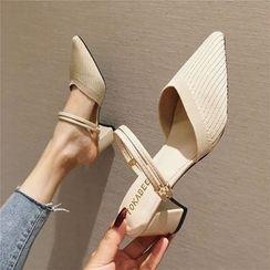 The Shoe House - 粗跟尖頭涼鞋