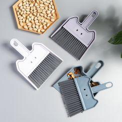 Yulu - Set: Plastic Hand Broom + Dustpan