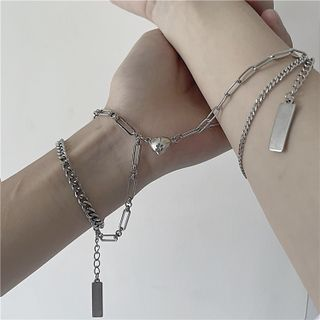 Porstina - 情侣款心心链条手链