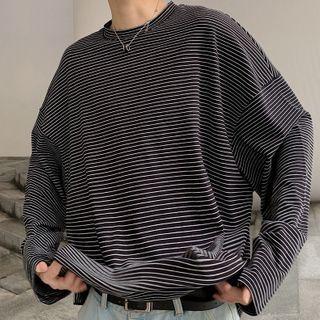 Meirin - Striped Long-Sleeve T-Shirt