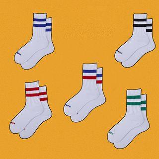 ASAIDA - 配色边袜子