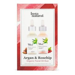 InstaNatural - Argan & Rosehip Organic Facial Oil Duo