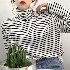 Dute - Camiseta de cuello vuelto de rayas
