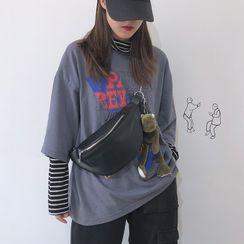 Katleon - Faux Leather Sling Bag