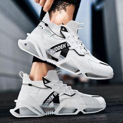 Auxen - Lettering Mesh Sneakers
