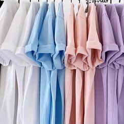 JUN.LEE - Plain Short-Sleeve T-Shirt