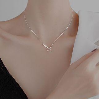 FOON(フーン) - Rhinestone Geometric Necklace