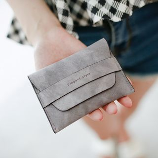 Rinka Doll - Faux Suede Card Holder