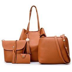 Mayanne - 四件套: 水桶包 + 單肩包 + 斜挎包 + 卡套